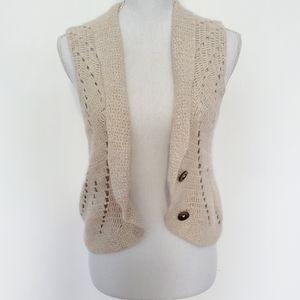 CAbi Angora Blend Sweater Vest